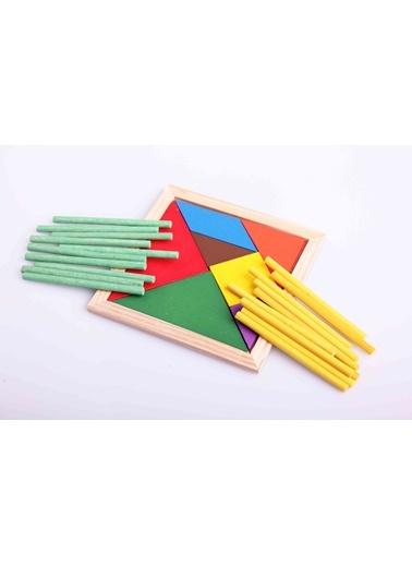 Ahşap 20'li Sayı Çubuğu ve Tangram Seti-Learning Toys